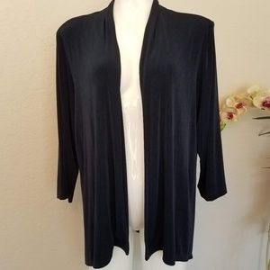 Travelers Collection By Chicos Open Jacket Size 3